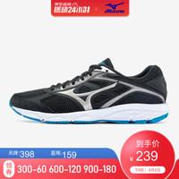 (全)Mizuno美津濃緩沖入門跑步鞋運動鞋男 SPARK  K1GA190358 黑/淺灰 42.5
