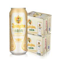 青岛啤酒 全麦白啤 500ml*12听*2箱 *2件