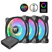 京东PLUS会员 : Tt(Thermaltake)Riing Duo 12 LED RGB 机箱风扇散热器