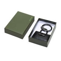 LONGCHAMP 瓏驤 女士ROSEAU系列鑰匙圈鑰匙扣禮盒款黑色金屬配皮 6982 871 001 *4件