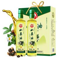 磨師傅 山茶油 廣西巴馬低溫冷榨 一級純茶籽油500mlx2禮盒裝 物理壓榨食用油