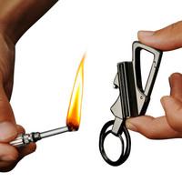 萬次火柴鑰匙扣 新款鑰匙扣禮品 金屬多功能創意禮物 黑鎳