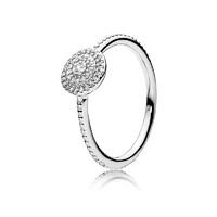 PANDORA 潘多拉 女士閃亮的優雅 銀飾品925銀戒指送戀人 190986CZ