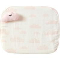 好孩子(GB)嬰兒透氣枕幼兒園兒童寶寶枕頭幾何空間記憶綿枕 粉紅 *2件