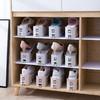 收納拖鞋架可調節雙層鞋托一體式家用宿舍放鞋神器鞋柜鞋子置物架