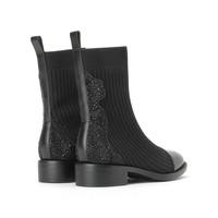 思加圖 水鉆方跟牛皮革襪靴 9H224DZ9