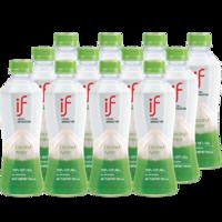 椰子水if泰國 天然純椰青水350ml*12瓶 低卡低糖飲料NFC果汁