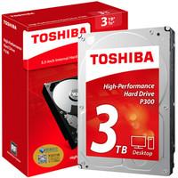 TOSHIBA 东芝 P300系列 7200转 64M SATA3机械硬盘 3TB