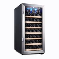 維諾卡夫風冷恒溫紅酒柜 黑色 雙溫區容量約73瓶