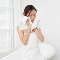 愉悅之家一次性毛巾浴巾待客旅行裝 白色 毛巾10包 *5件