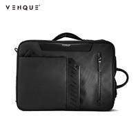venque/范克潮牌男包 時尚多功能差旅包雙肩包手提斜挎包大口袋