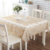 易邁免洗防水防油燙金鏤空餐桌布