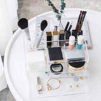 有品米粉节:A&MAISON 亚克力化妆品收纳盒 全透明(257*148*150mm)