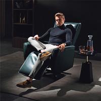 芝華仕 CHEERS 頭等艙 單人真皮電動功能沙發意式現代單椅功能沙發 50311 暗夜綠30-60天發貨