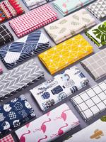 桌布棉麻布藝 日式簡約學生書桌北歐ins臺布長方形茶幾餐桌墊蓋布