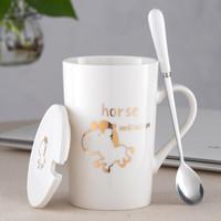 創意十二生肖可愛陶瓷杯子420ml