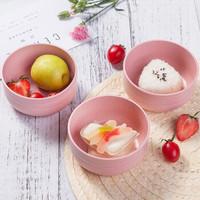 愛思得(Arsto)稻殼米飯碗微波爐4.5寸日式飯碗餐具套裝5198A3粉色3只裝 *7件