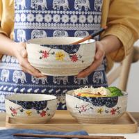 日式陶瓷家用韓式飯碗釉下彩