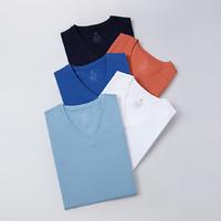咱家男式針織純色V領T恤