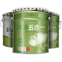 三棵树 内墙乳胶漆+净味五合一墙面漆白色 套装(面漆15L*2+底漆20KG)