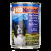 K9 Natural新西蘭進口天然無谷寵物狗狗罐頭濕糧狗零食罐頭5種口味 牛肉370g *4件