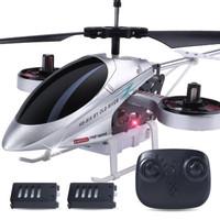 活石 遙控飛機無人機4.5通耐摔側飛版 充電陀螺儀搖控直升機航模型玩具 雙電4.5通定高升降版