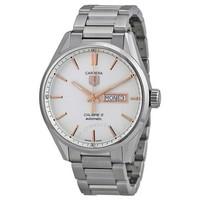 银联专享:豪雅 WAR201DBA0723 Carrera银色表盘精钢男士手表