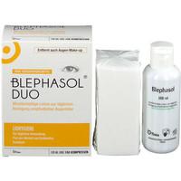 BLEPHASOL 眼部護理套裝 眼部清潔乳液 100ml+清潔棉100片