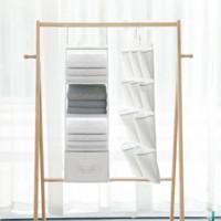有品米粉节:整理生活 衣橱挂衣区收纳系列 10格单面挂袋 *4件