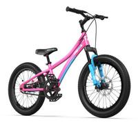 優貝(RoyalBaby)兒童自行車兒童單車4-6-12歲男女童車小孩寶寶腳踏車16/20寸探險家 粉色 20寸