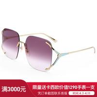 古馳(GUCCI)太陽鏡女 墨鏡 紫羅蘭色鏡片金色鏡框GG0646S 003 60mm