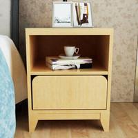 HMJIA HJ-C301J-CF簡約床頭柜抽屜柜楓木色