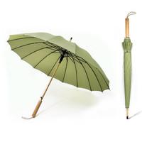 Neyankex 木柄直桿16骨雨傘 多色可選