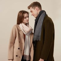 10:07 纯羊绒超柔双面异色围巾