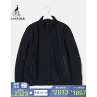 BEANPOLE濱波 2020春季男士菱格拉鏈立領棉服夾克 藏青色 175/92A