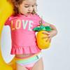 海邊度假綺童堡2020夏季新款女小童短袖分體泳衣兩件套