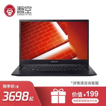 WOOKING 吾空 ST Pro 14英寸笔记本电脑 i5-10210U 8G 512G 专业版 黑色