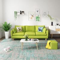 北歐小戶型布藝沙發全實木框架可拆洗