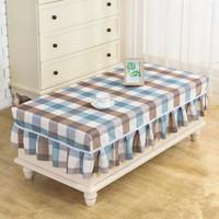 長方形布藝茶幾桌布家用套防塵蓋布