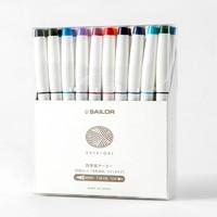 中亞Prime會員 : Sailor 寫樂 25-5400-000 SHIKIORI四季織 雙頭水性筆 20色套裝
