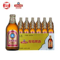 青島啤酒小棕金小麥啤酒296ml*24瓶裝整箱夏日暢飲聚會宴會小酌酒