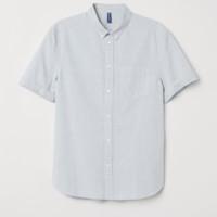 H&M DIVIDED 0283236 男装短袖衬衫