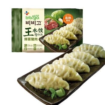 bibigo 必品阁 鲜菜猪肉王水饺 600g