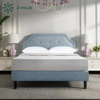 Zinus 际诺思 纽扣式软包布艺床 1.5m