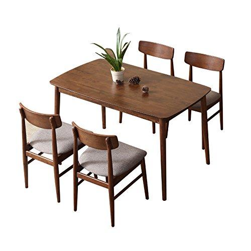 致林 奥斯陆系列 实木餐桌椅组合 (一桌四椅)