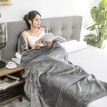 京造 法兰绒超柔毛毯空调毯