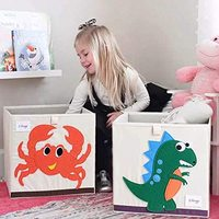 SHINY GRAIN 布艺可折叠卡通收纳箱 无盖 (恐龙+螃蟹)