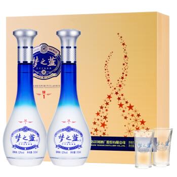 YANGHE  洋河 蓝色经典 梦之蓝M1 52度  500ml*2瓶
