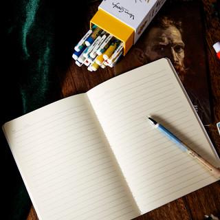 M&G 晨光 HAPY0146-123 梵高套装 缝线笔记本12本+黑色全针管水笔24支