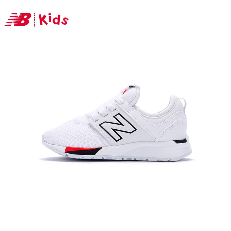 New Balance KA247 儿童小白鞋